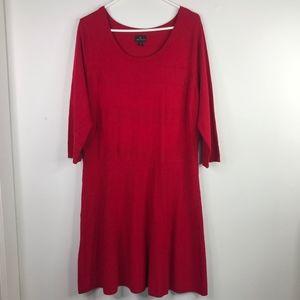 Worthington Red Scoop Neck Dress